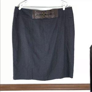 NWT Avenue dark wash denim skirt size 18